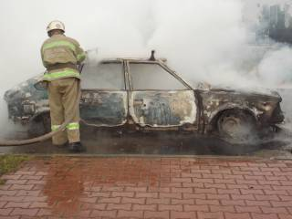 На польской границе в пункте пропуска сгорел автомобиль