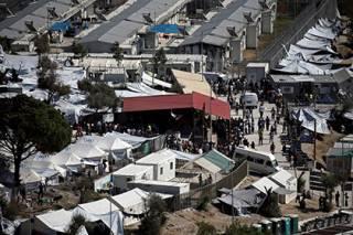 Беженцы сожгли офис Европейского агентства по вопросам предоставления убежища