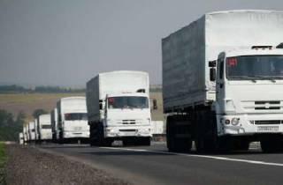 На Донбасс прибыл очередной полупустой российский «гумконвой»