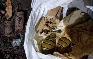 В Славянске нашли пакет с гранатами