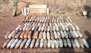 На Донбассе обнаружили очередной тайник с боеприпасами