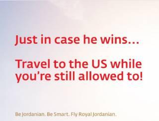 Иорданская авиакомпания посоветовала клиентам поскорей слетать в США. Пока еще можно
