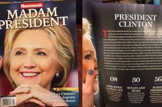 В американских магазинах по ошибке оказались 125 тыс. номеров Newsweek с президентом Клинтон на обложке