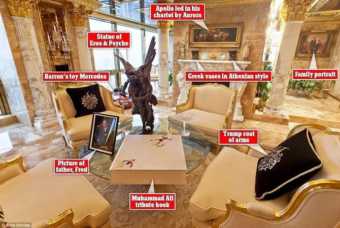 Как выглядит пентхаус Трампа вНью-Йорке— Золото имрамор