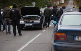 На Закарпатье автомобилисты заблокировали дороги