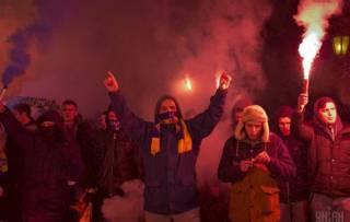 В Одессе футбольные фанаты устроили шествие