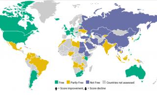 Украина четвертый год подряд падает в рейтинге свободы Интернета