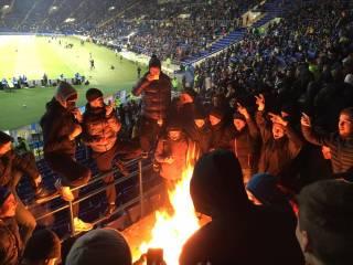 Огненная выходка харьковских ультрас может дорого стоить сборной Украины