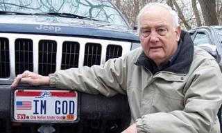 Американец судится с целым штатом из-за номерных знаков