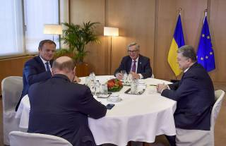 Порошенко в Брюсселе пообщался с президентами Евросовета, Еврокомиссии и Европарламента