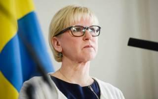 В Киев с официальным визитом прибыла глава МИД Швеции