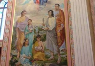Порошенко украсил домовой храм фреской с собственным изображением в виде римского патриция. Пшонка отдыхает