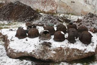 Во время раскопок тюрьмы во Львове найдены немецкие каски и чекистские документы