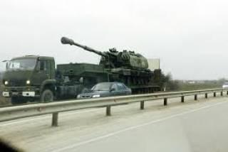 В Крыму на улицы повыползала военная техника