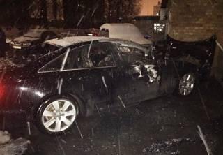 В Киеве сожгли автомобиль главы секретариата «Депутатского контроля»