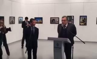 Появилось новое видео с места убийства российского посла