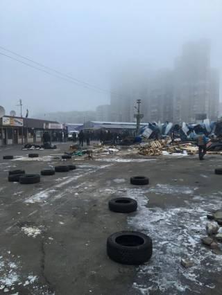 В Киеве очередной снос МАФов закончился потасовкой
