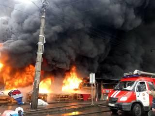 В Киеве во время пожара погибла женщина