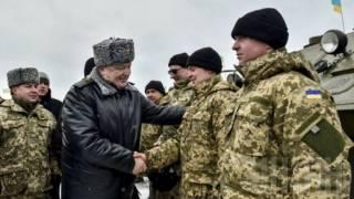 Ради встречи с Порошенко солдат заставили двое суток провести на морозе