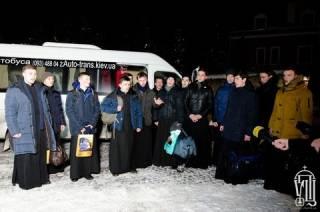 Рождественская миссия УПЦ посетила 10 военных подразделений и 10 блокпостов в зоне АТО