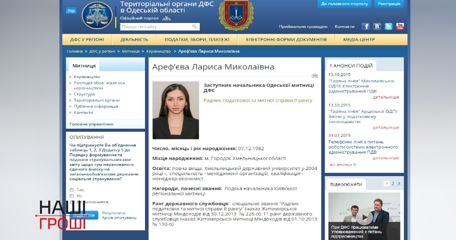 Задержанная навзятке в $50 тыс. одесская таможенница пошла наповышение