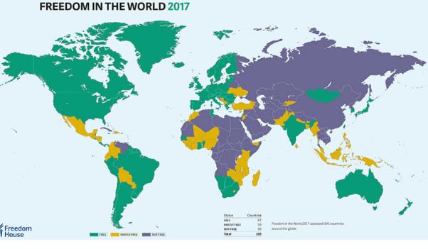 Украина признана «частично свободной» врейтинге свободы Freedom House