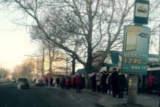 В Херсоне массовая забастовка водителей маршруток. Горожане негодуют