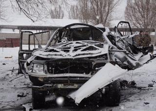 В Луганске вместе с автомобилем взорвали «начальника управления народной милиции» ЛНР