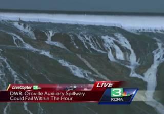 В Сети появились кадры того, как в Калифорнии разрушается крупнейшая в стране плотина
