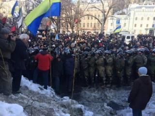 В Киеве произошли столкновения между протестующими и полицией. Есть пострадавшие с обеих сторон