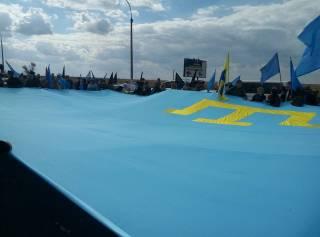 Киевляне устроили Марш солидарности с крымскотатарским народом