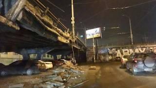 В Киеве на «Шулявке» частично обвалился мост. Благо, обошлось без жертв