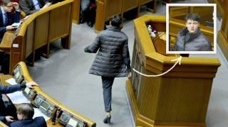 Савченко появилась в парламенте на каблуках и в брендовой одежде