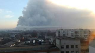 Пожар на складах боеприпасов возле Балаклеи распространился на половину территории объекта