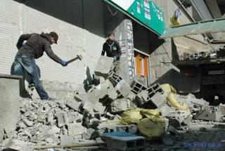 В центре Киева размуровали «Сбербанк»