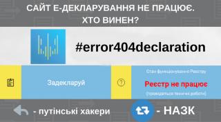 Сайт е-деклараций не работает уже несколько дней. Чиновники возмущаются, в НАПК хотят разобраться