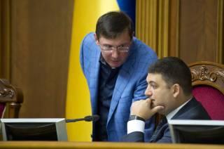 Гройсман уверяет, что не метит на место Порошенко, а Луценко — на место Гройсмана