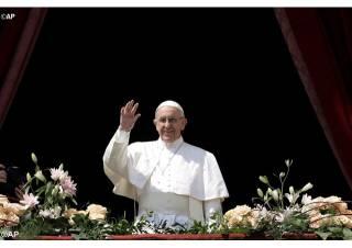 В пасхальном богослужении Папа Римский упомянул Украину