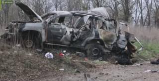 Боевики «ЛНР» показали видео с места подрыва автомобиля ОБСЕ под Луганском. Меркель шокирована