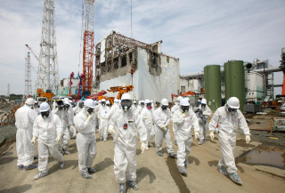 В районе японской «Фукусимы» бушует лесной пожар