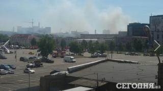 В Киеве горят склады (обновлено)