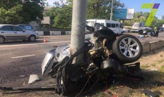 Смертельное ДТП в Одессе: BMW разорвало на две части
