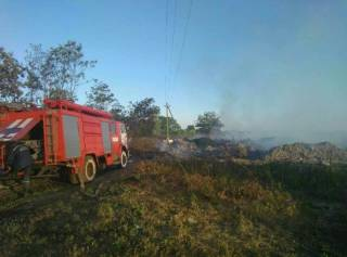 Под Киевом загорелась стихийная свалка площадью 20 тысяч «квадратов»