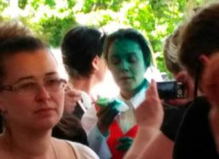 Одесситы превратили Королевскую в «зеленого человечка»