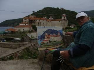 Украинский художник написал уникальную коллекцию картин с видами 20 афонских монастырей