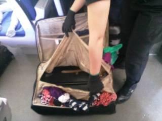 Украинка пыталась нелегально вывезти в Польшу своего сына, спрятав его в чемодан