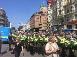 Марш равенства в Киеве закончен. Информация о задержанных противоречивая, но в целом все прошло мирно