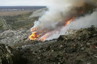 На Закарпатье горит мусорная свалка. Пострадавших пока нет