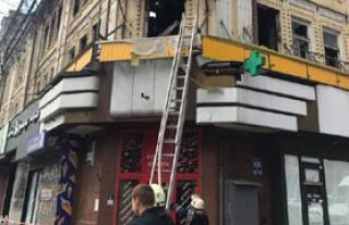 На Крещатике опять едва не начался пожар, и опять в том же здании