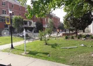 В США в общежитии университета прогремел взрыв. Разрушены два этажа